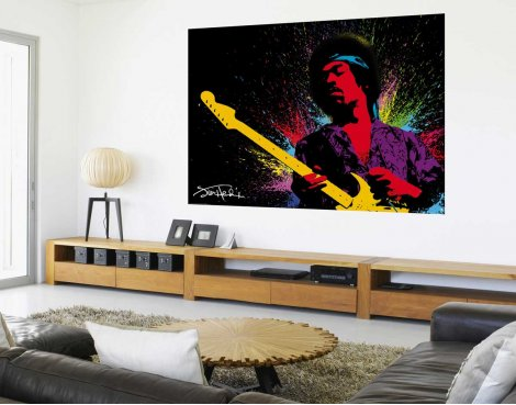 1Wall Jimmy Hendrix Wall Mural