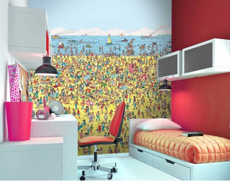 1Wall Where\'s Wally Beach Wall Mural