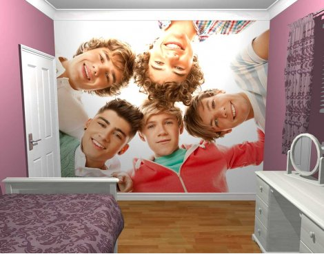 1Wall One Direction Circle Wall Mural