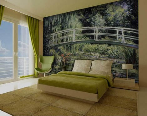 1Wall Giant Claude Monet\'s Japanese Bridge Wall Mural