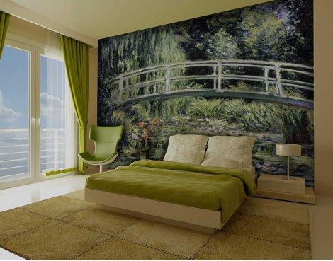 1Wall Giant Claude Monet\'s Japanese Bridge Wall Mural