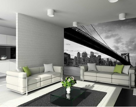 1Wall Giant New York Brooklyn Bridge Wall Mural Large