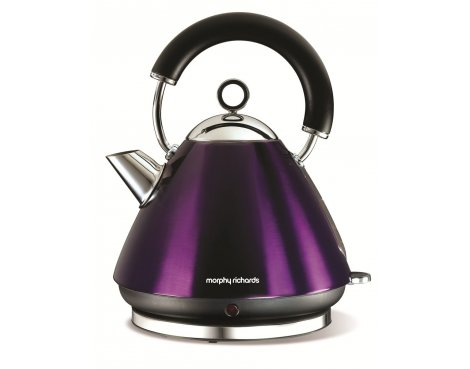 Morphy Richards 43769 Accents Plum Traditional Kettle - 1.5L