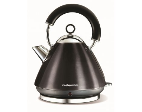 Morphy Richards 43776 Accents Black Traditional Kettle - 1.5L