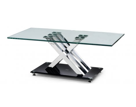 Julian Bowen X-Frame Clear Glass Coffee Table