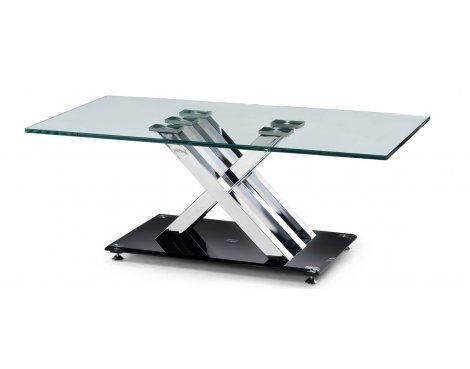 Julian Bowen X-Frame Clear Glass Coffee Table