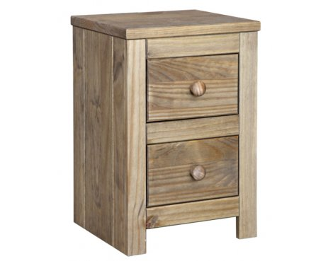 Core Products Hacienda 2 Drawer Bedside Table