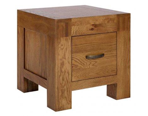 Rustic Grange Santana Rustic Oak 1 Drawer Lamp Table