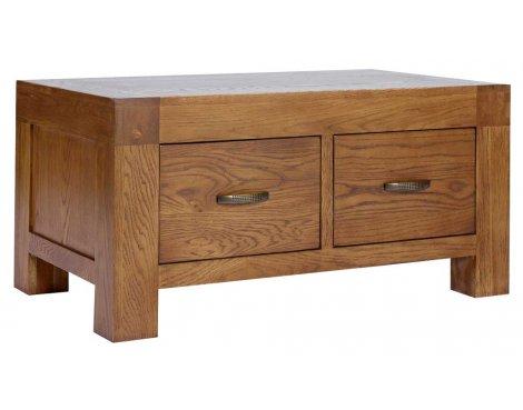 Rustic Grange Santana Rustic Oak 2 Drawer Coffee Table