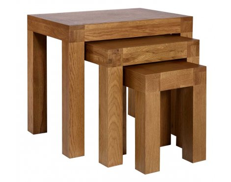 Rustic Grange Santana Rustic Oak Nest of Tables