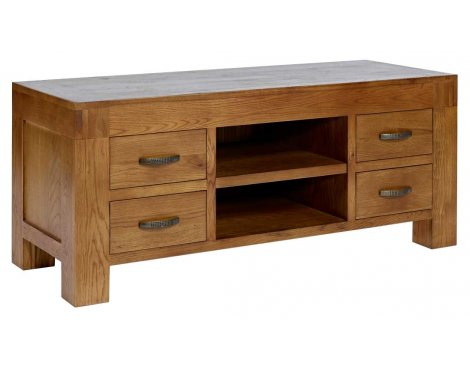 "Rustic Grange Santana Rustic Oak TV Stand for up to 50"" TVs"