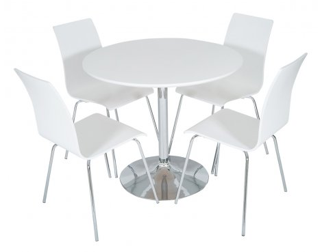 B GRADE/Box slightly damaged LEVV DTW-50W White Dining Set