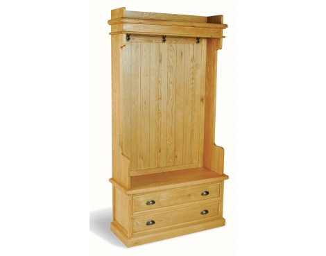 Ultimum Somerset Oak Coat Hanger with drawers