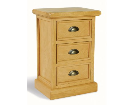 Ultimum Somerset Oak Side Table 3 Drawers