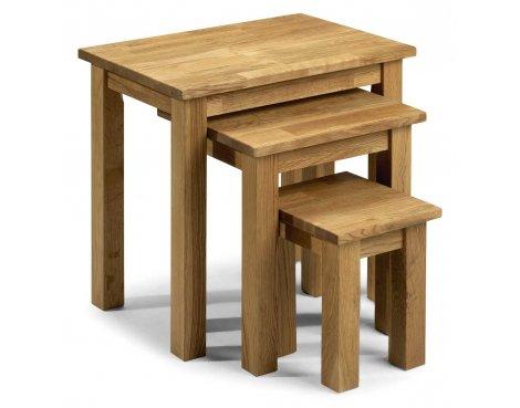 Julian Bowen Coxmoor Oak Nest Tables