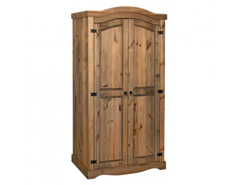 Core Products CR520 Classic Corona 2 Door Wardrobe - Rustic Pine
