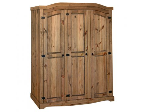 Core Products CR530 Classic Corona 3 Door Wardrobe - Rustic Pine