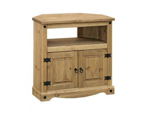 "Core Products CR911 Classic Corona Corner TV Unit for up to 42"" TVs - Rustic Pine"
