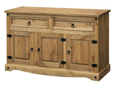 Core Products CR916 Classic Corona 2 Drawer 3 Door Sideboard - Rustic Pine
