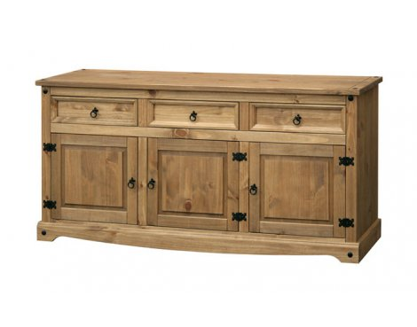 Core Products CR917 Classic Corona 2 Drawer 2 Door Sideboard - Rustic Pine