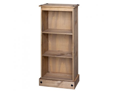 Core Products CR948 Classic Corona Low Narrow 2 Shelf Bookcase - Rustic Pine