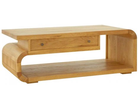 Ultimum Durham Oak UD14 Coffee Table with Drawer