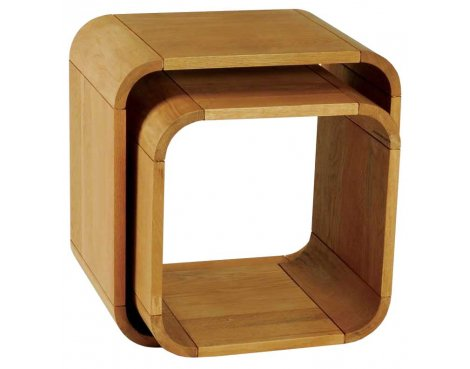 Ultimum Durham Oak UD58 Resized Nest of Tables