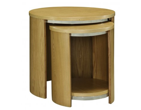 Jual JF306 Oak Nest of Tables