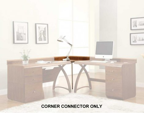 Jual PC604 Walnut Corner Connector for Jual Office