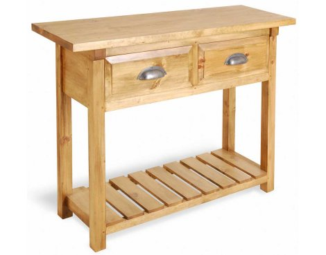 Ultimum Classic Pine 2 Drawer Kitchen Console Table