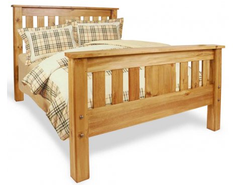 Ultimum Classic Pine 4\'6 Panel Bed
