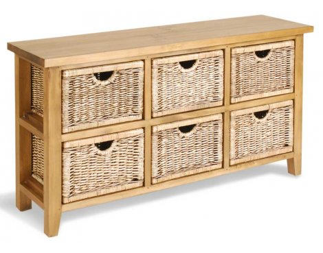 Ultimum Classic Pine 6 Drawer Margarita Low Chest