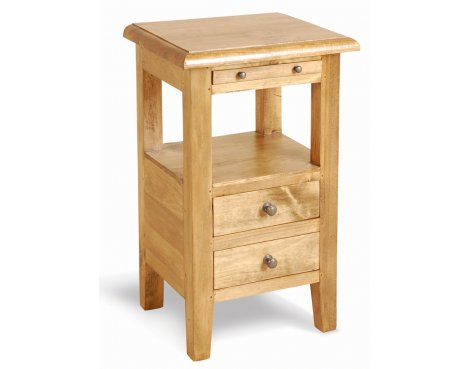 Ultimum Classic Pine 2 Drawer Bedside Table