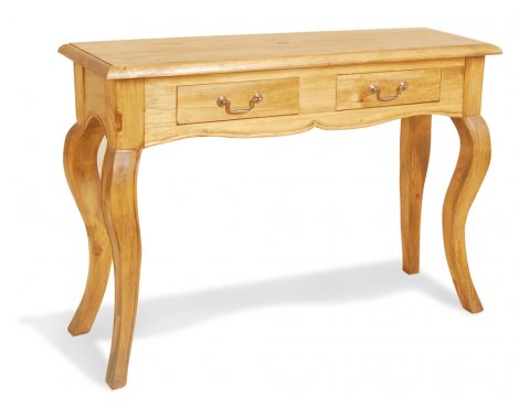 Classic Pine Provence Medium 2 Drawer Console Table