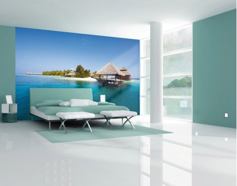 1Wall Giant Paradise Island Wall Mural