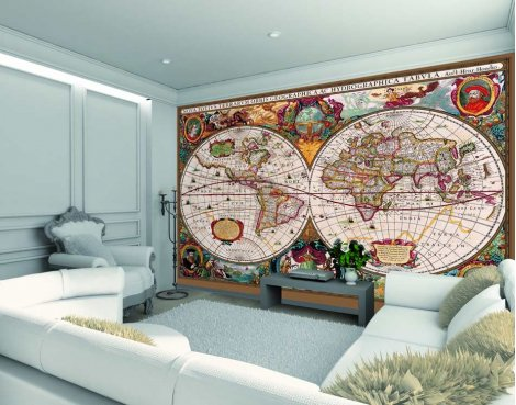 1wall antique world map wall mural gumiabroncs Choice Image