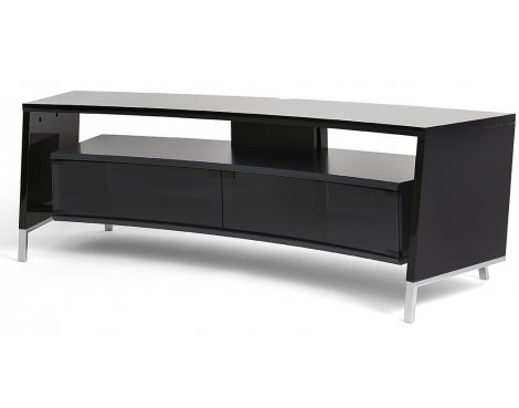 Off-The-Wall Curve 1500 Black TV Stand