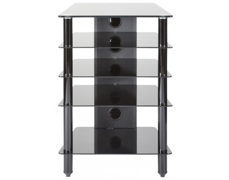 MMT 5 Shelf Premium Black Glass Hifi Stand