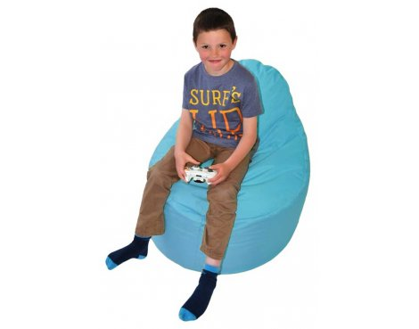 ValuFurniture Classic Gamer Light Blue Bean Bag