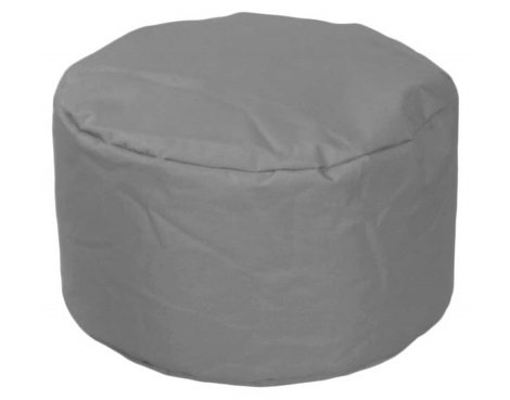 ValuFurniture Round Stool Grey Bean Bag