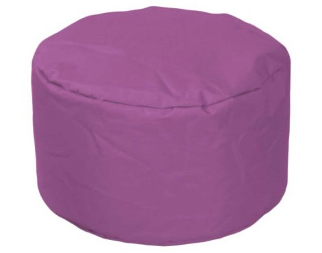 ValuFurniture Round Stool Purple Bean Bag