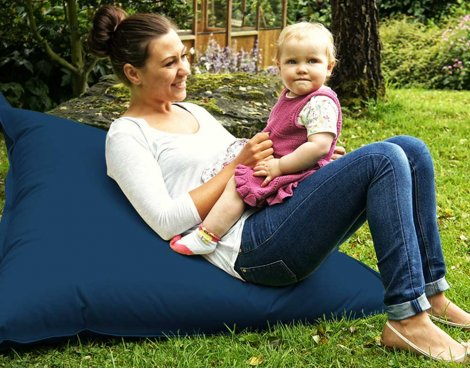ValuFurniture Large Slab Dark Blue Bean Bag