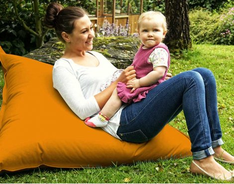 ValuFurniture Large Slab Orange Bean Bag