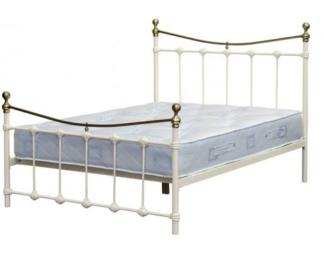 ValuFurniture Dakota Cream/Antique Brass Double Bed