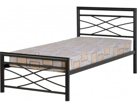 ValuFurniture Kelly 3\' Black Single Bed