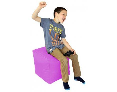 ValuFurniture Cube Purple Bean Bag