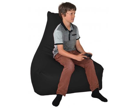 ValuFurniture PU Leather Gamer Black Bean Bag