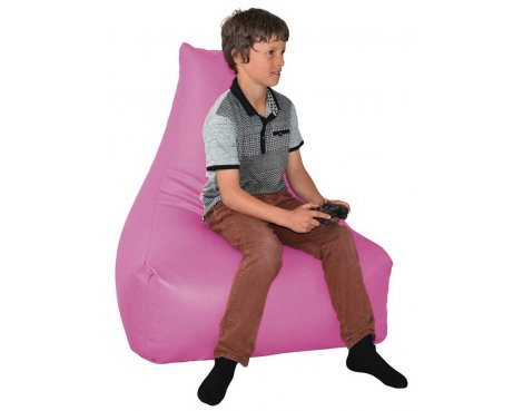 ValuFurniture PU Leather Gamer Pink Bean Bag