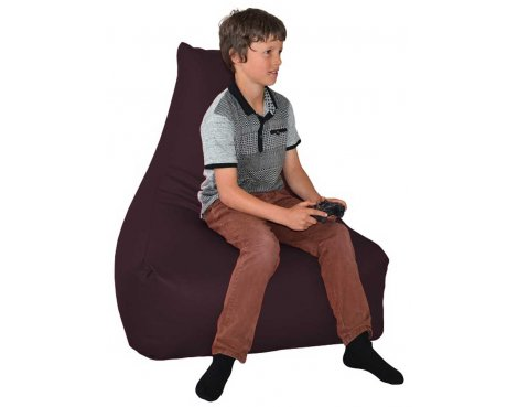 ValuFurniture PU Leather Gamer Purple Bean Bag