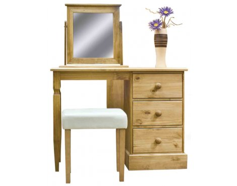 Core Products Cotswold CT318 Single Pedestal Dressing Table